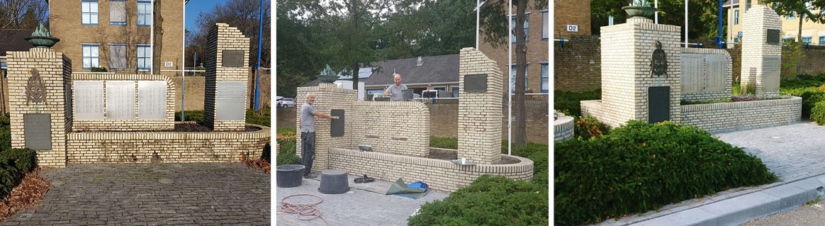 Renovatie oorlogsmonument Veluwehof
